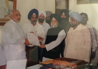 Rulda Singh and India Prime Minister Narendra Modi