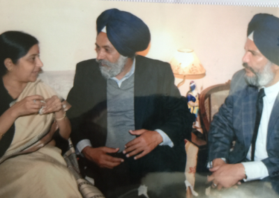 Rulda Singh and India Foreign Minister Sushma Swaraj
