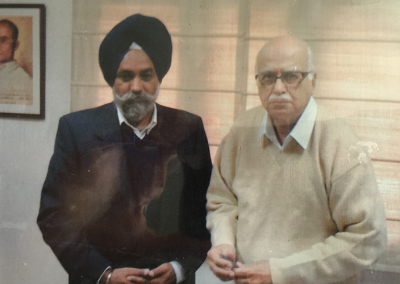 Rulda Singh and Deputy Prime Minister of India Lal Krishna Advani