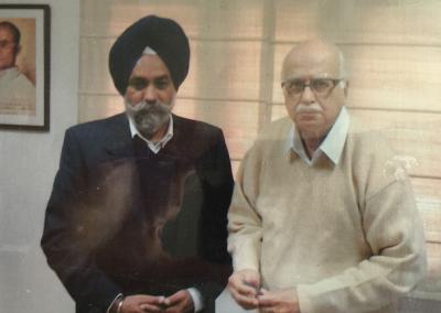 Rulda Singh and Deputy Prime Minister of India Lal Krishna Advani