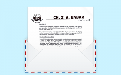 Letters from the past: Ch. Z. A. Babar words of support from Pakistan