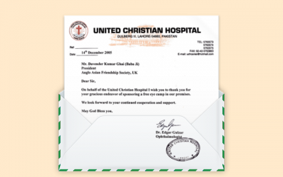 Letters from the past: United Christian Hospital in Lahore